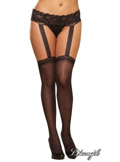 DG0013X - Suspender Pantyhose (BLACK)