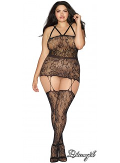 DG0288X - Plus Size Garter-Dress