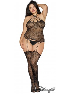 DG0299X - plus size Bodystocking