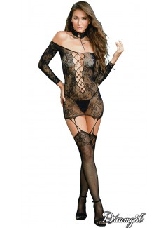 DG0318 - Reversible Garter Dress (Lace-up front)