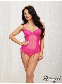 DG10428 - Bustier and Panty Set (HOT PINK)