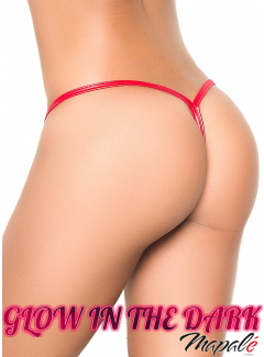 EP1048 - Y-Back Thong (WET RED)