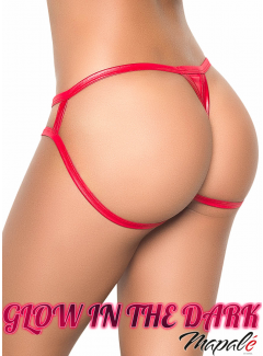 MA1074 - Cage Panty (WET RED)