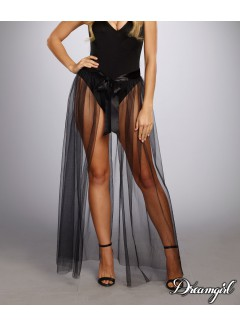 "DG10831 - ""Sheer Tie-Front Skirt"""