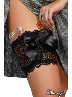 DG10983 - Lace Garter Wallet (BLACK)