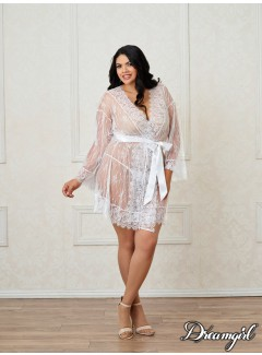 DG11078 - Lace Robe (WHITE)