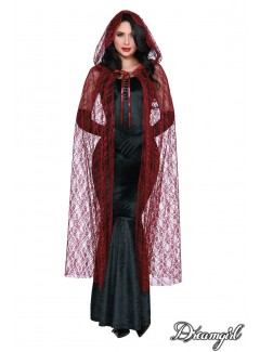"DG11192 - ""Lace Cape"" (Red)"