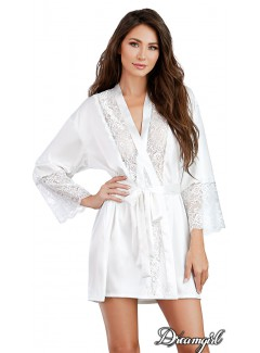 DG11497 - Satin Robe (WHITE)