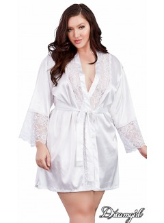DG11497X - Satin Robe Set (WHITE)