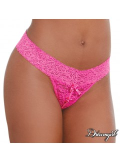 DG1431 - Open Lace Thong (HOT PINK)