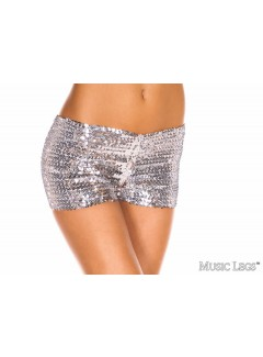 ML145 - BOOTY SHORTS (SILVER)