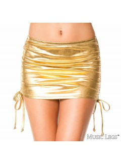 ML154 - ADJUSTABLE MINI SKIRT (GOLD)