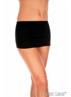 ML157 - Plain Mini Skirt (BLACK)