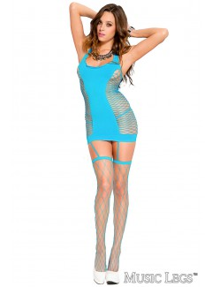 ML2470 - Bustier & Stocking (TURQUOISE)