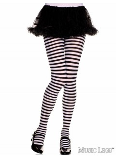 ML270 - Girls stripes tight (BLACK/WHITE)