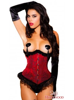 SH29095 - 2PC Waist Cincher (RED)
