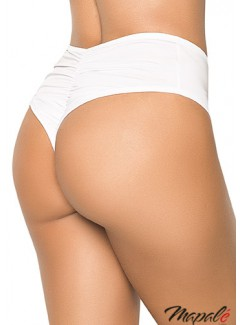 MA3037 - High-waisted panty (WHITE)