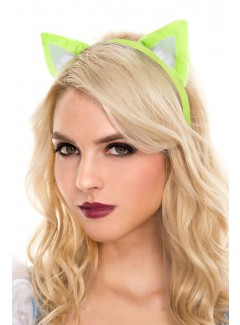ML311 - CAT HEADBAND (NEON GREEN)
