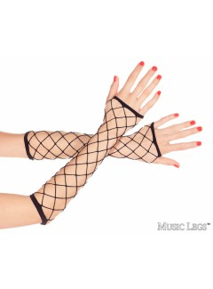ML410 - DIAMOND NET ARM WARMERS (BLACK)