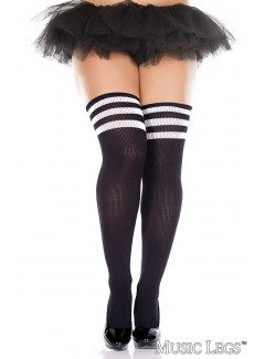 ML4245Q - Thigh Hi (BLACK/WHITE)