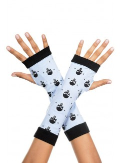 ML450 - Skull Print Fingerless Gloves