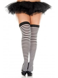 ML4741Q - Thigh Hi (BLACK/WHITE)