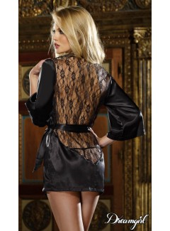 DG4819 - Satin Robe (BLACK)