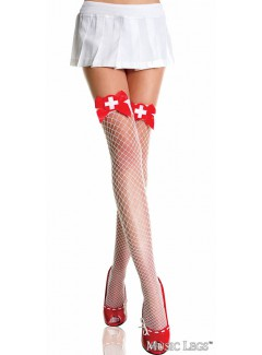ML4933 - Thigh Hi (White/Red)