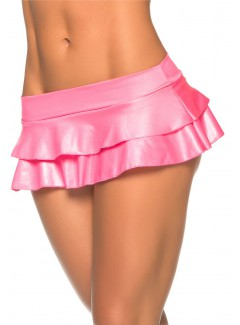 EP5022 - Double Layered Rufle Skirt (WET PINK)