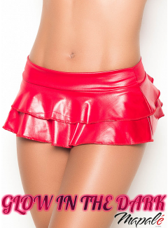 MA5022 - Double Layered Rufle Skirt (WET RED)