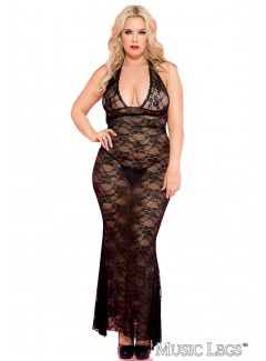 ML53012Q - Gown (BLACK)