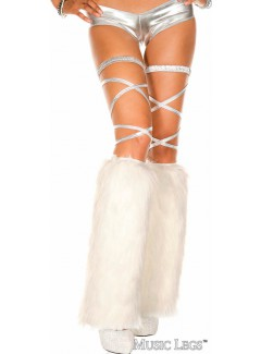 ML5535 - FURRY LEG WARMERS (WHITE)