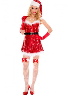 ML70058 - SEXY MISS SANTA (RED/WHITE)
