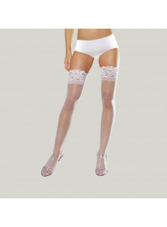 DG7030X - Sheer Thigh High (WHITE)