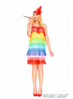 ML70675 - RAINBOW FRINGE FLAPPER