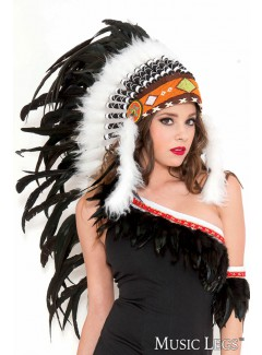 ML70799 - PURE WHITE INDIAN HEADDRESS