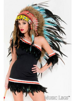 ML70800 - TURQUOISE INDIAN HEADDRESS