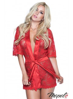 MA7115 - Lace Robe (RED)
