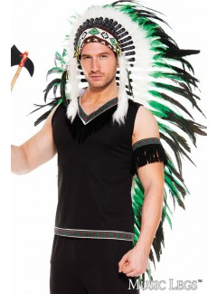 ML76635 - LONG FEATHER INDIAN HEADDRESS