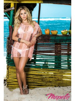 MA7792 - Cover Up & Beach Dress (CORAL)
