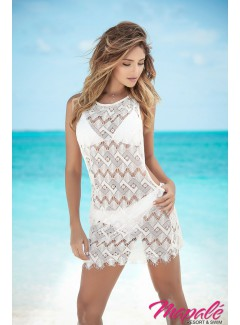 AM7838 - BEACH DRESS (WHITE)