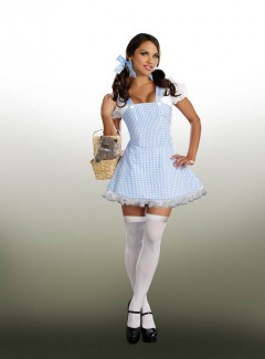 DG8909 - BLUE GINGHAM DRESS