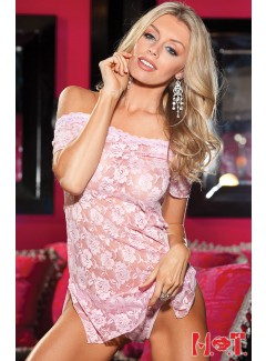 SH96351  - Lace Chemise (BABY PINK)