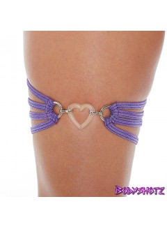 BS555 - Heart Garter (PURPLE)