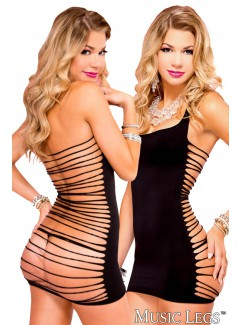 ML56022 - Strappy Back Dress (BLACK)