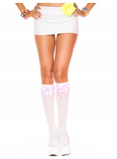 ML5722 - Knee Hi & Over The Knee (WHITE/PINK)