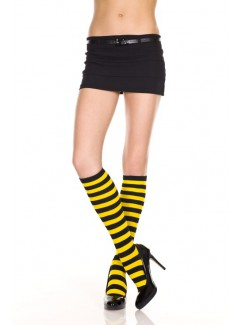 ML5701 - Knee Hi & Over The Knee (Black/Yellow)