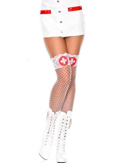 ML4824 - Thigh Hi (White/Red)