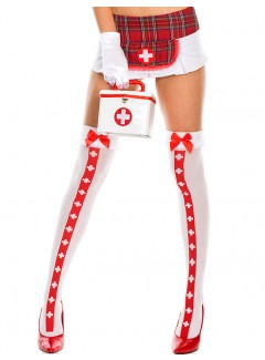 ML4780 - Thigh Hi (White/Red)