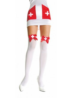 ML4759 - Thigh Hi (White/Red)